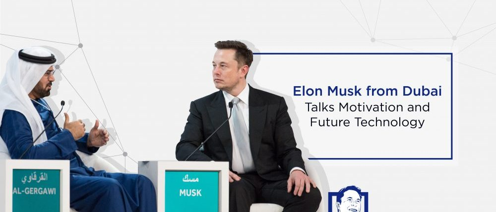 Elon Musk from Dubai